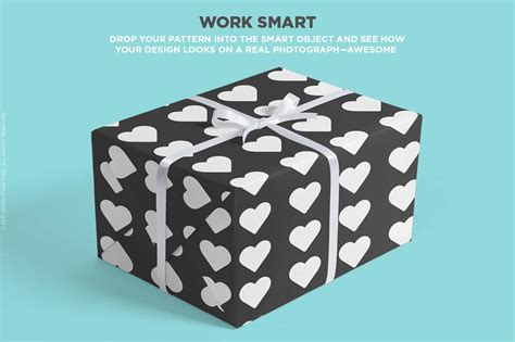 pattern mock up free mockup embalagem para presente