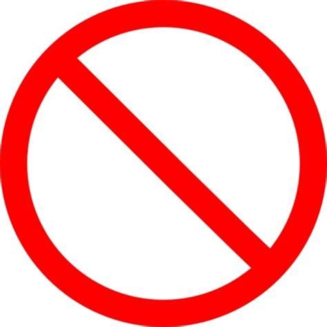 red no sign clip art (58+)