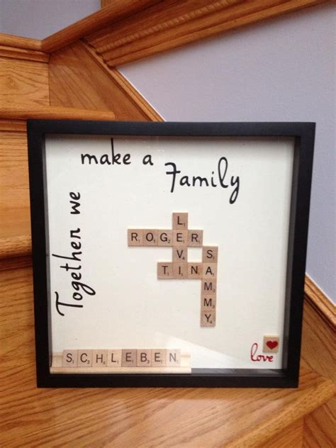 scrabble tile craft ideas scrabble tile family names my creations