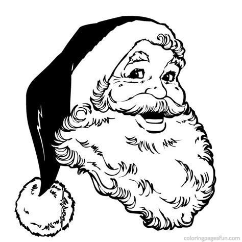 free coloring pages of santa claus face