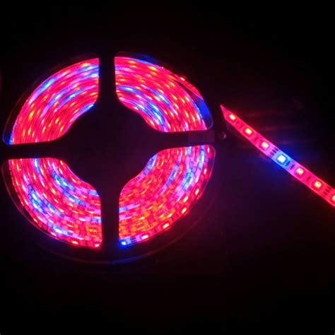 Smd5050 Led Plant Grow Strip Light Non Waterproof Flexible Led Grow Light Strips