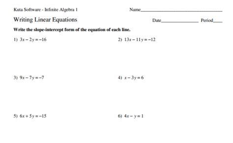 8th Grade Linear Equations Worksheets by Math Worksheets For 8th Grade 8th Grade Math