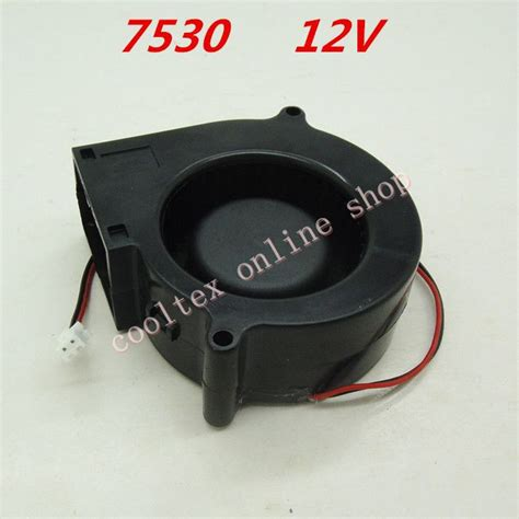 12 volt dc fans for sale 10pcs lot 7530 blower fan 12 volt brushless dc