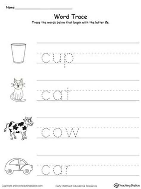trace words    letter sound  printable