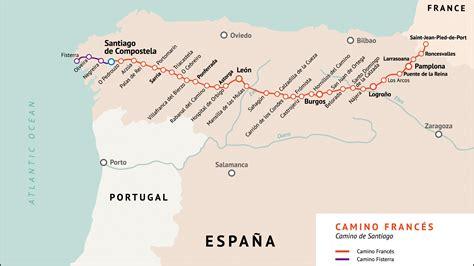 camino de mapa camino franc 233 s camino de santiago