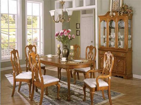 oak dining room set 17 best images about dinning rooms on blue