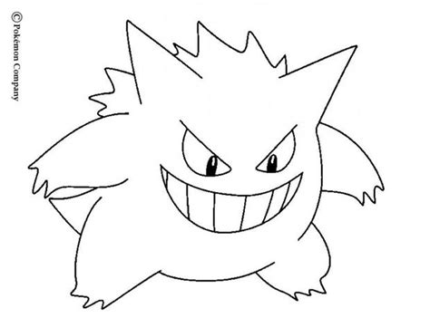 pokemon coloring pages hellokids gengar coloring pages hellokids com pokemon