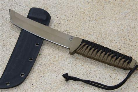 japanese knife pattern satori tanto flat dark earth knife