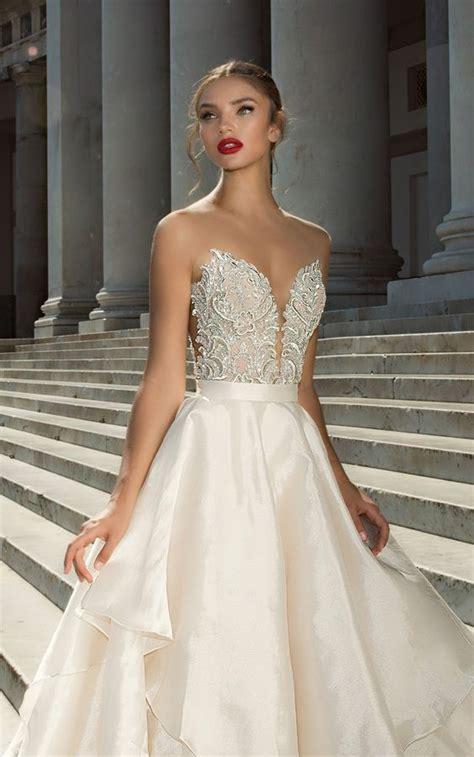 pattern white wedding dress wow 33 chic a line wedding dresses that wow weddingomania