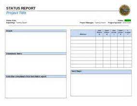project on a page template status reporting one page template hashdoc