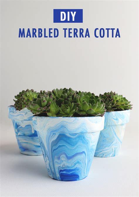 Terracotta Planters diy marbled terra cotta pots alana jones mann
