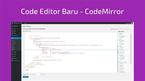 wordpress theme editor code highlight rilis wordpress 4 9 tipton nubidev