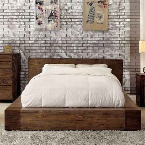features transitional style box  bed frame