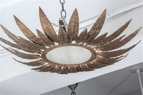 Sunburst Ceiling Texture by Sunburst Ceiling Fixture With Textured Glass At
