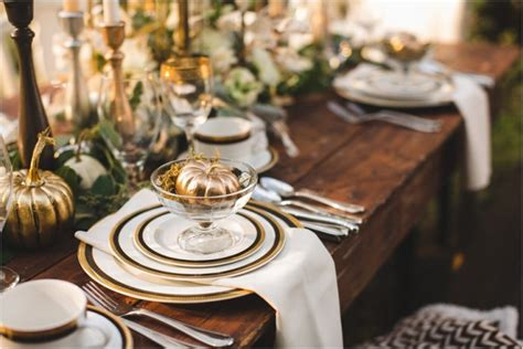 table setting ideas the most elegant thanksgiving table settings home and