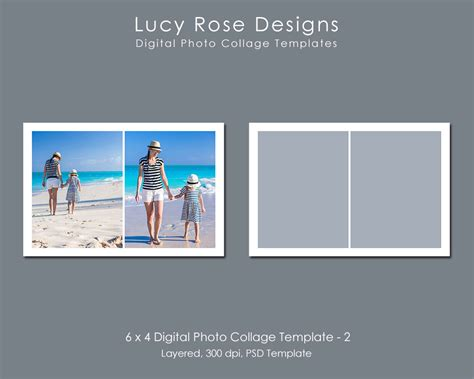 4 Picture Collage Template by 6 X 4 Photo Collage Template 2