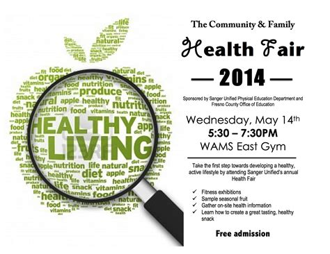 8 Best Photos Of Family Health Fair Flyers Health And Wellness Event Flyer Health Fair Flyer Wellness Flyer Templates Free