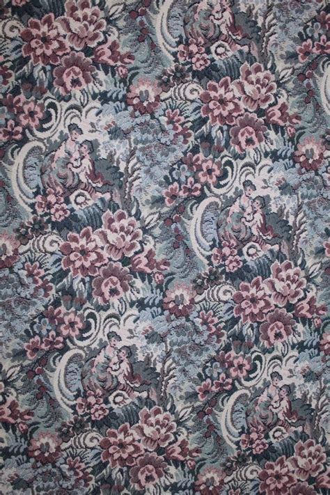 victorian upholstery fabric 8 yds romantic floral tapestry upholstery fabric 505