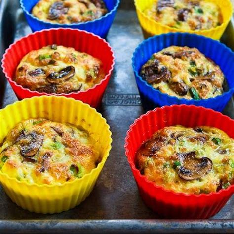 baked mini frittata with mushrooms cottage cheese and