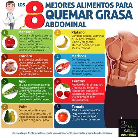 los  mejores alimentos  quemar la grasa abdominal