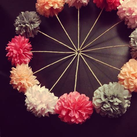 Decorating With Tissue Paper Flowers by Diy Pom Flowers 10 Count Wedding Decorations Table