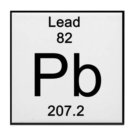 periodic table lead tile coaster by science_lady