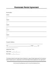 Roommate Contract Sle by Roommate Rental Agreements Hashdoc