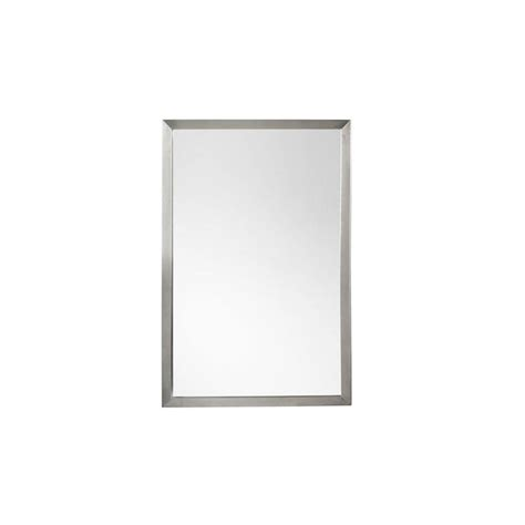 Metal Framed Mirrors Bathroom Ronbow Contemporary 23 X 34 Metal Framed Bathroom Mirror In Brushed Nickel 603423 Bn