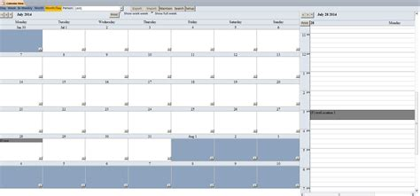 northwind database with enhanced calendar scheduling