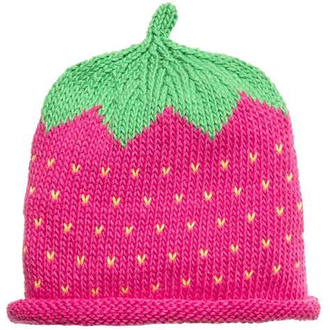 cotton knit merry berries baby cotton knit raspberry hat