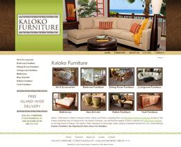 Furniture Stores Kailua Kona by Hawaii Website Design Graphic Design Curly