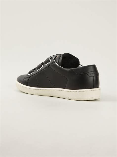 mens black velcro sneakers lyst laurent velcro sneakers in black for