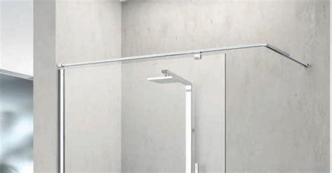 fixation pour paroi de barre de fixation evo novellini pour paroi en verre de 6 mm et 8 mm fintion chrome