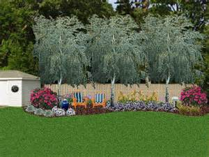 Fence Landscaping Ideas Landscaping Against A Privacy Fence Three River Birches I Think It Adds More Privacy And I M