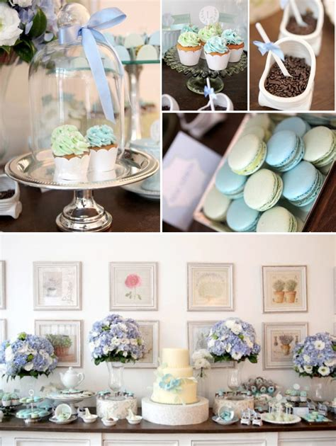 Themed Baby Shower by Parisian Cafe Themed Baby Shower Via Kara S