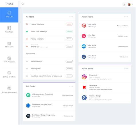 task list dashboard user interface by masudur rahman dashboards user