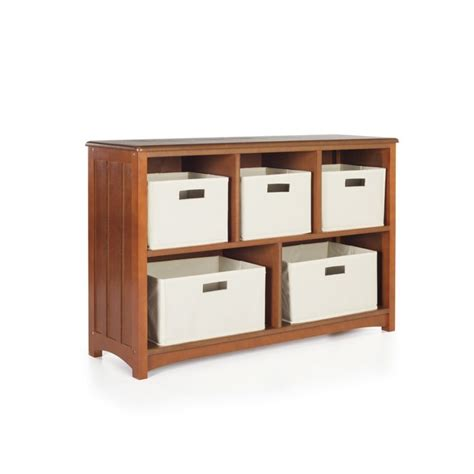 guidecraft mission 5 shelf bookcase in walnut g86406