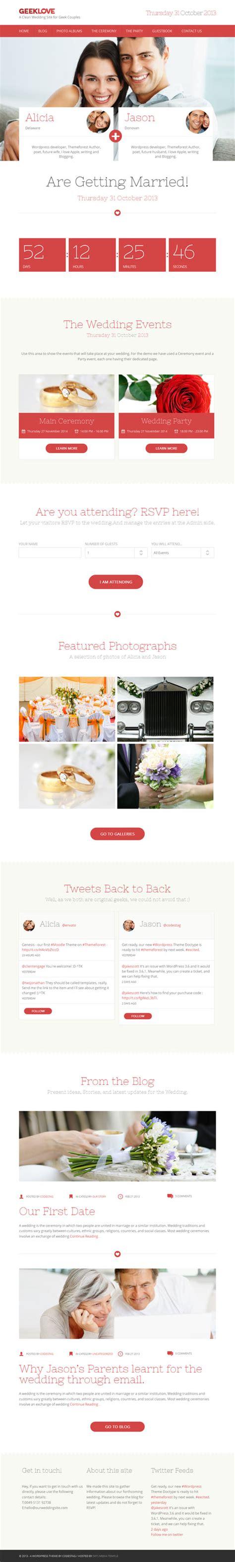 themes in geek love 30 best wedding wordpress themes 2018