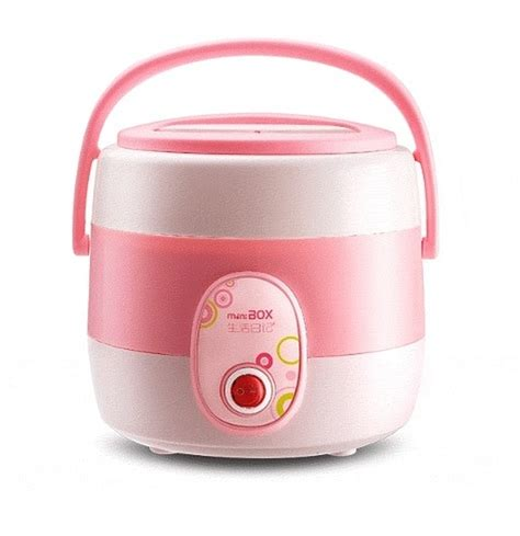 Mini Rice Cooker Portable my box 1 45l mini portable rice cooker pink home appliances