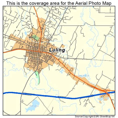 where is luling texas on a map aerial photography map of luling tx texas