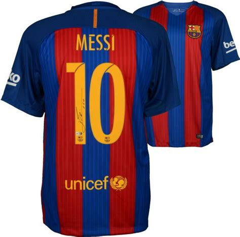 barcelona jersey 2017 messi lionel messi barcelona autographed 2016 2017 home jersey