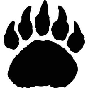 bear paw silhouette clipart best