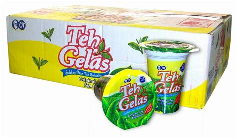 jual minuman teh gelas 200 ml 1 karton peek my box