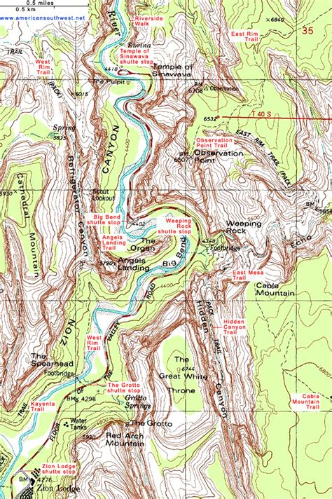 topographical map of utah topographic map of zion zion national park