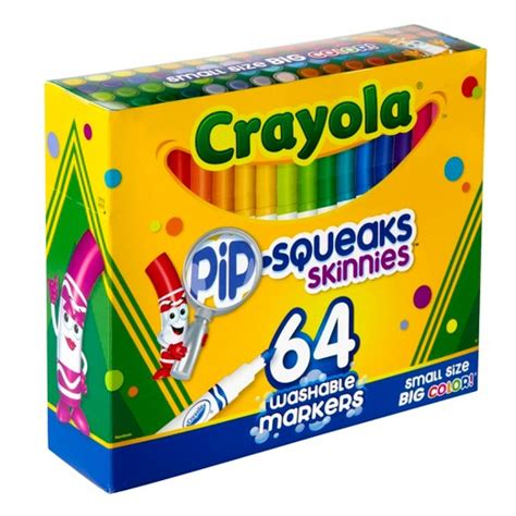 Crayola Washable Pip Squeaks Kit crayola 174 pip squeaks skinnies markers washable 64ct target