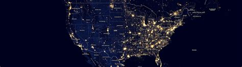 Light Pollution Map Usa by Light Pollution Map The Way In Its Light