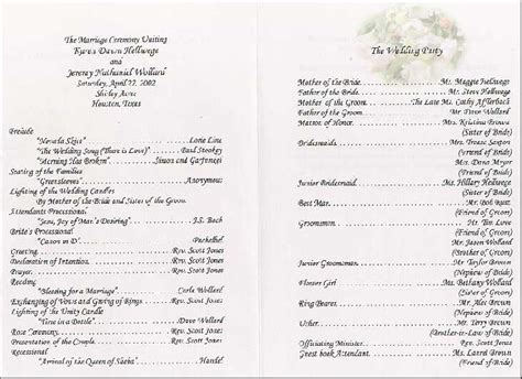 layout for wedding reception program sle wedding reception program wedding ideas