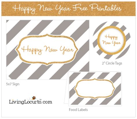 printable new year tags happy new year free party printables
