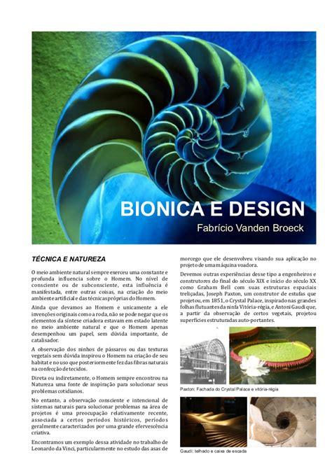 e design bionica e design vanden broeck