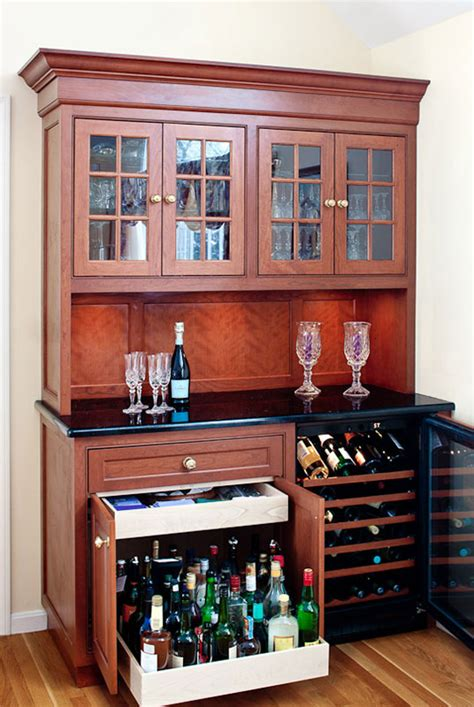wine and liquor cabinets bar idea with pull out cabinet for heavy liquor bottles